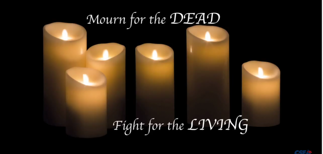 Mourn for the Dead. Fight for the Living.