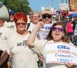 CSEA Central Region members participate in the 2016 Labor Day parade held at the State Fair in Syracuse.
