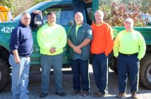 Village of Garden City Unit members want the village to maintain its aesthetic beauty by safeguarding union work from outsourcing. From left, Joe Scappatore, Robert LoDolce, Wayne Trested, David Shiner and Stephen Barnych.