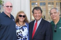 From left, Westchester County Local President John Staino, Westchester County Unit President Karen Pecora, Westchester County Executive- elect George Latimer and Southern Region President Billy Riccaldo.