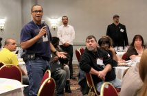 Town of Oyster Bay Local 5th Vice President T.J. Robinson has everyone's full attention as he addresses conference attendees.